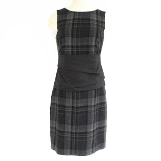 Akris Tartan Dress