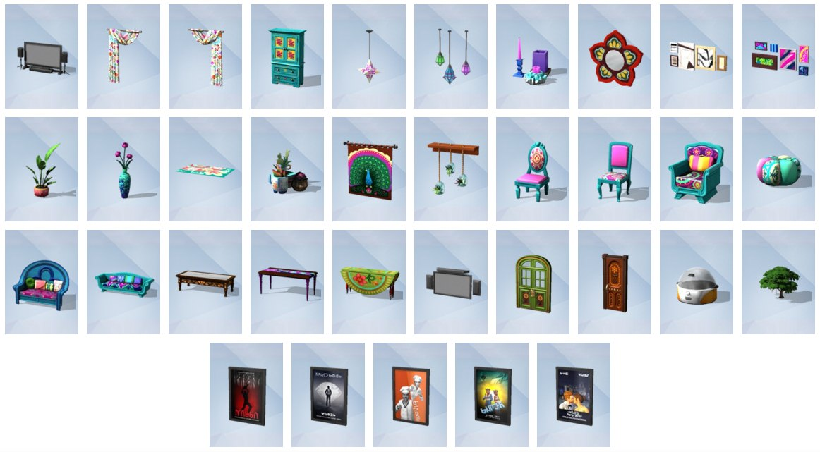 De sims 4 filmavond accessoires nieuwe items in bouwen for Furniture 7 days to die