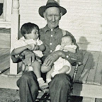 Grandpa Wilson with Leona and David