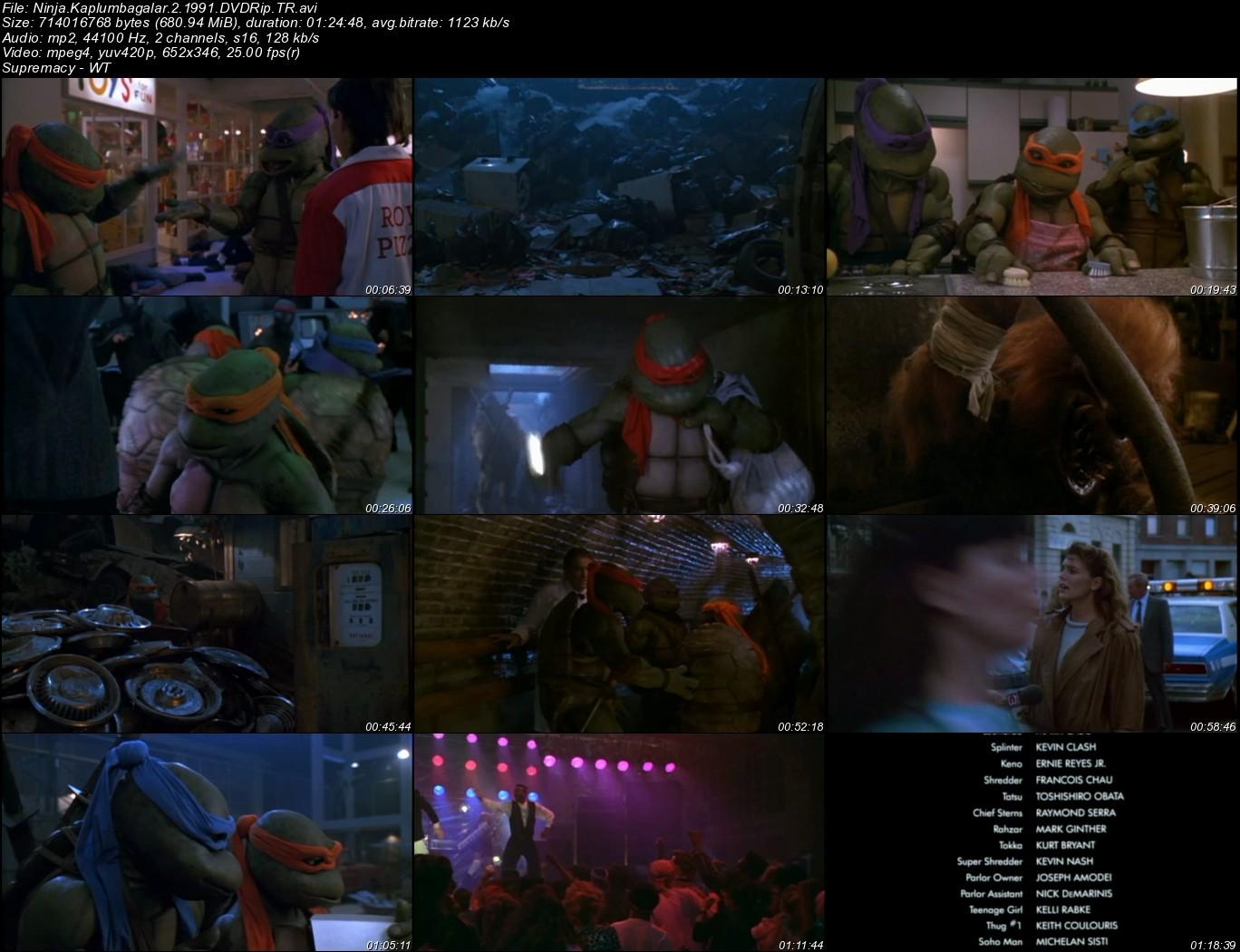 Ninja Kaplumbağalar 2 - 1991 Türkçe Dublaj Dvdrip Tek Link