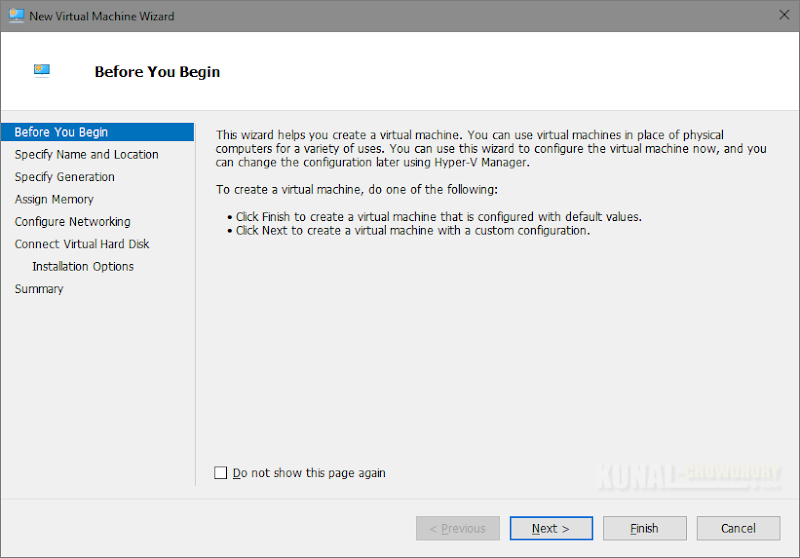 Before you Begin screen of Virtual Machine Wizard (www.kunal-chowdhury.com)