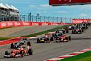 F1 field after 1st corner
