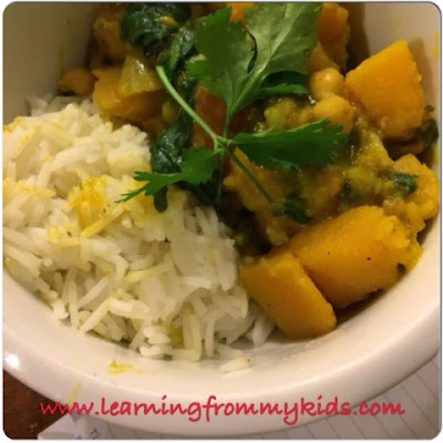 Crockpot Monday - Vegetarian Butternut Squash and Chickpea Coconut Curry