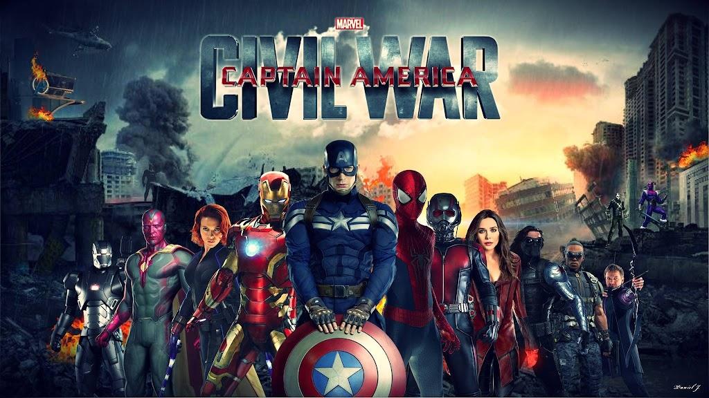 Captain America: Εμφύλιος Πόλεμος (Captain America: Civil War) Wallpaper