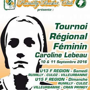 Tournoi Caroline Lebeau Edition 2016 U13F & U15F
