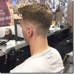 Trendy fade haircut