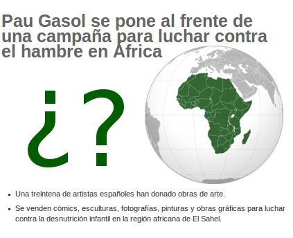 Campañas Benéficas África hambre