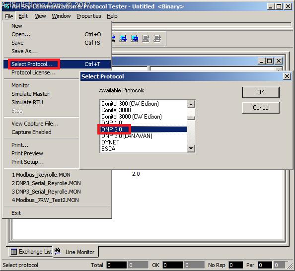 ASE2000 - Select Protocol - DNP3