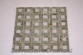 Flooring, Flooring & Mosaics, Green, Interior, Mosaic, Natural, Pinwheel, Quartzite, Stone, Tile, Tumbled, White