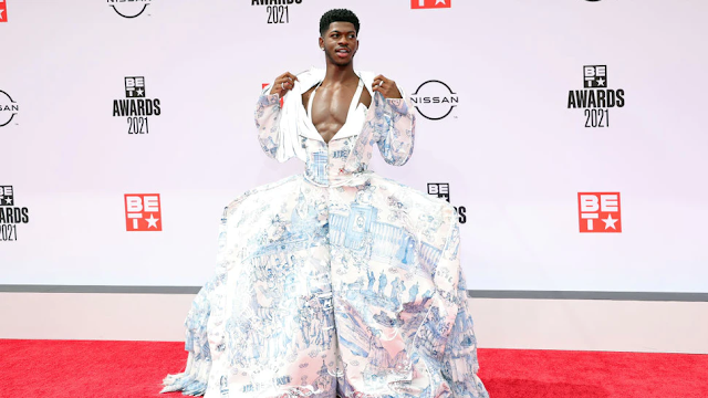 Lil Nas X Shows Up To BET Awards Wearing Dress Drawing 'Parallelism' Between Catholic Church And Nazism