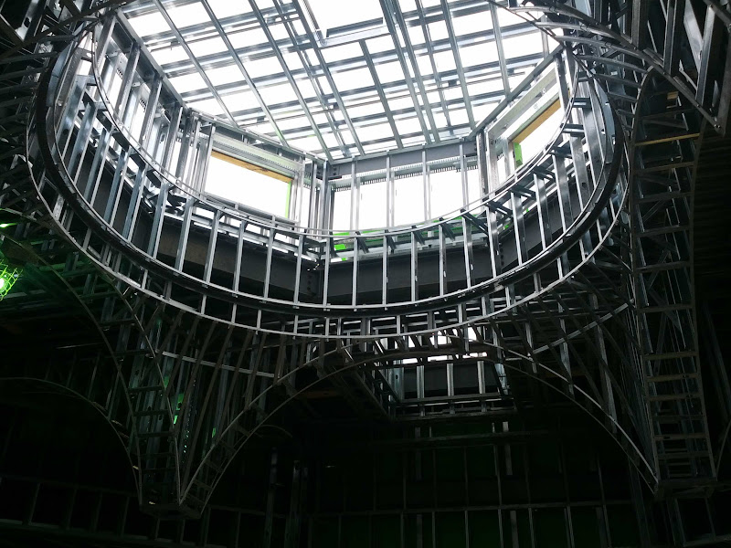 Another view of the structure looking the dome