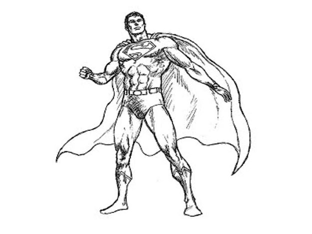 Image Of Superman Coloring Pages Printable
