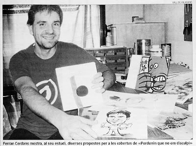 Ferran Cerdans Serra al seu estudi