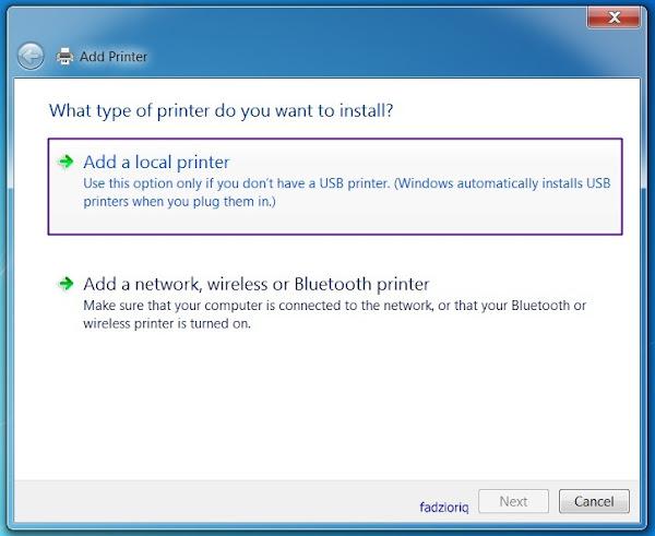 Add a printers