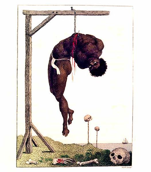 A Negro Hung Alive By The Ribs To A Gallows, William Blake