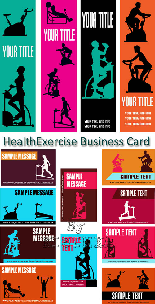 Stock: HealthExercise Business Card Templates
