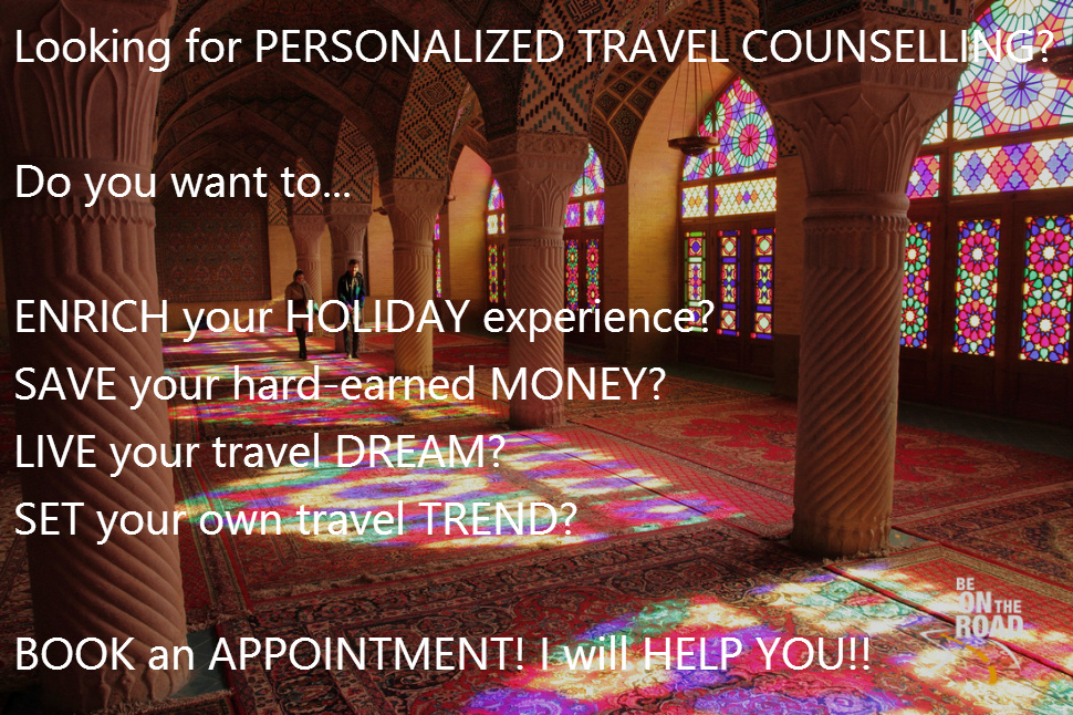 Personalized Travel Counselling Service by Sankara Subramanian of BE ON THE ROAD