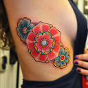 Tudor rose tattoo Designs 8