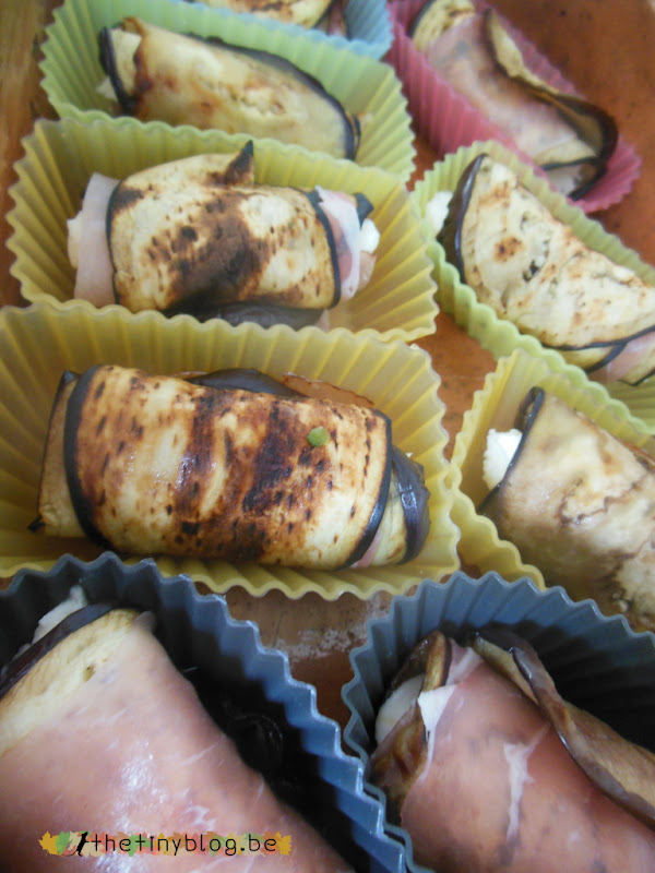 Rolled Eggplant with Mozzarella and Jambon d'Ardennes