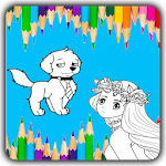Paint The Sketch - A Coloring Game For Kids Icon
