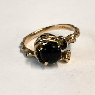 14 K Gold & Onyx Ring