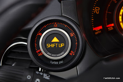Fiat 500 Abarth Turbo Boost Gauge