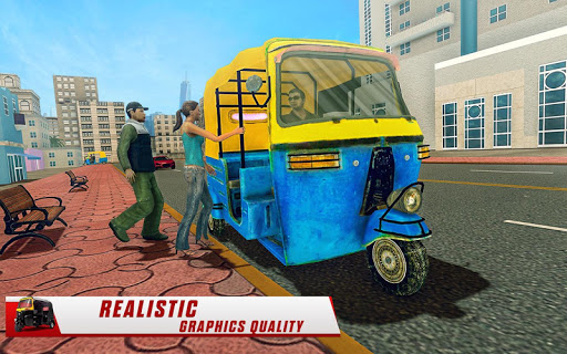 City Tuk Tuk Rickshaw Driver 2019 screenshot 8