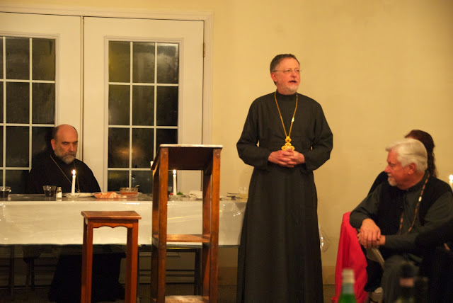 Fr. John thanks Bp. Michael for his leadership over the last few years, and especially with this DDB Program.