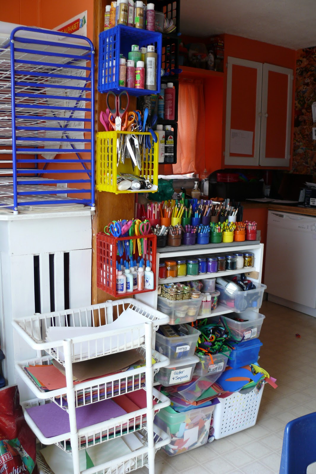 Childrens arts and crafts supplies - We Also Have A Couple Of Shelves With Other Arts And Crafts Supplies And Closet Filled With More Stuff And No I Won T Be Showing Any Photos Any Time Soon
