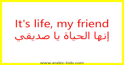 It's life, my friend إنها الحياة يا صديقي