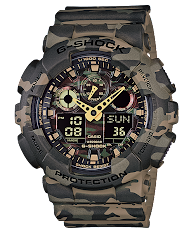 Jam Tangan Pria Analog-Digital Tali Karet  Casio G-Shock : GA-1100GB-1A