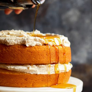 Easy Pumpkin Cake with Browned Butter Maple Frosting