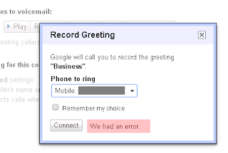 Unable to re record or record new greeting we had an error describe your issue include any recent actions completed restarted device changed settings etc see above and screen capture below m4hsunfo