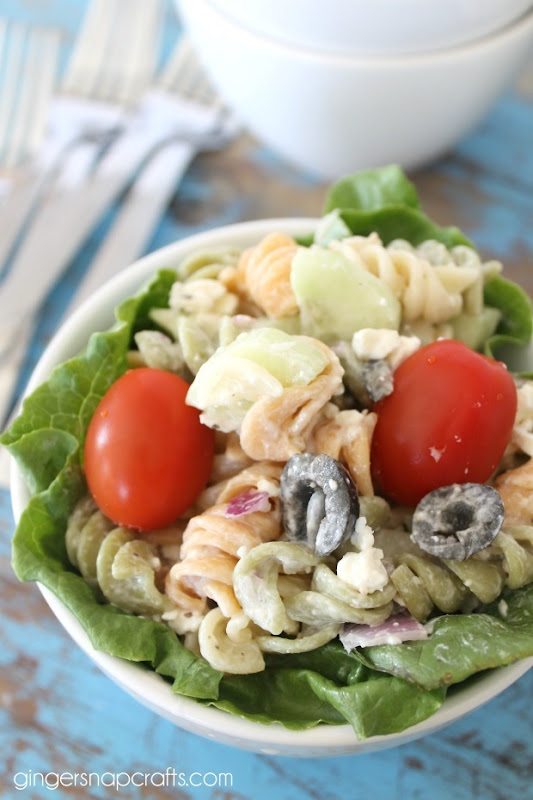 caesar salad with pasta