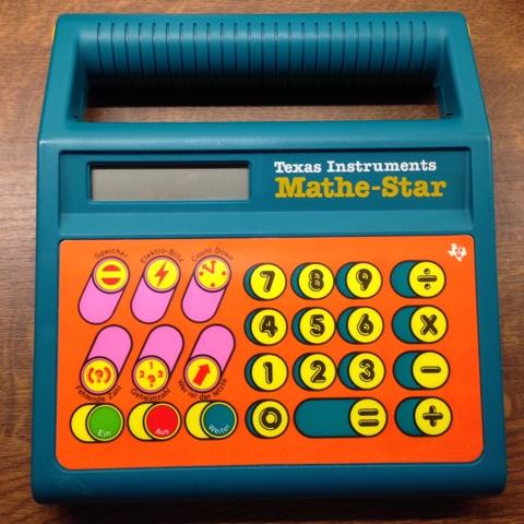 Mathe-Lerncomputer aus meiner Kindheit