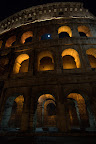 Colosseum in Rome - Night with Moon