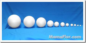 Bolas de Tecnopor de muchos tamaños