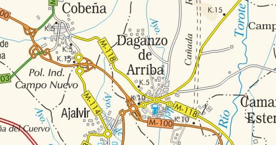 Nuevo acceso al pol gono los frailes de daganzo de arriba en la carretera m 118 es por madrid - Daganzo de arriba ...