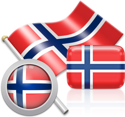 Norwegian flag icons pictures collection