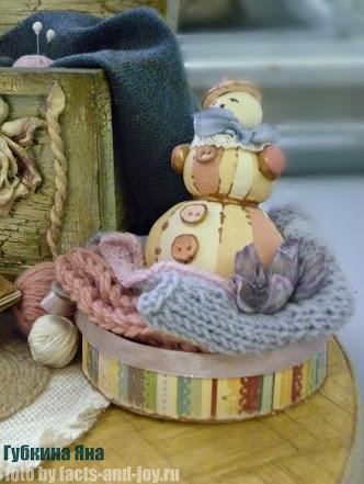 Губкина яна, выставка авторских кукол ателье чудес - снеговичок