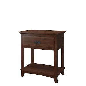 Glasgow Nightstand with Shelf