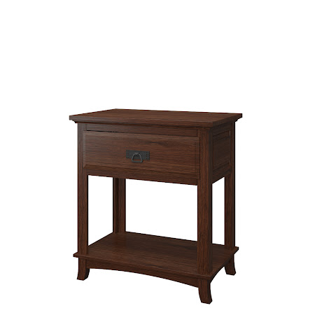 Glasgow Nightstand with Shelf, Temperance Walnut