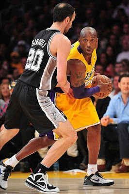 wearing brons nba lebron9 freegums manu ginobili 14 Wearing Brons: LeBron X, 9 and Soldier 6 Sightings all over NBA