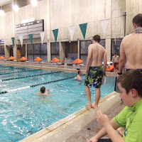 Keeping a close eye on the swimmers