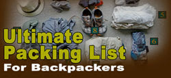 Ultimate packing list for backpackers and long term travel