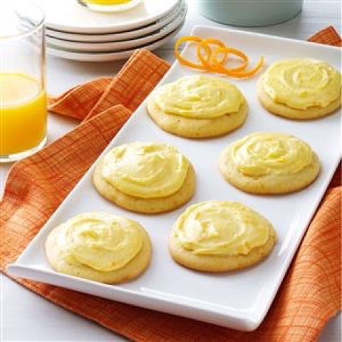 Grandma Brubaker's Orange Cookies  source: tasteofhome.com