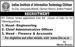 IIIT Chittoor Vacancies indgovtjobs