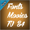 Fonts Movies TV for S4 icon
