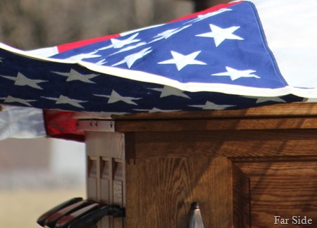 Flag above the casket