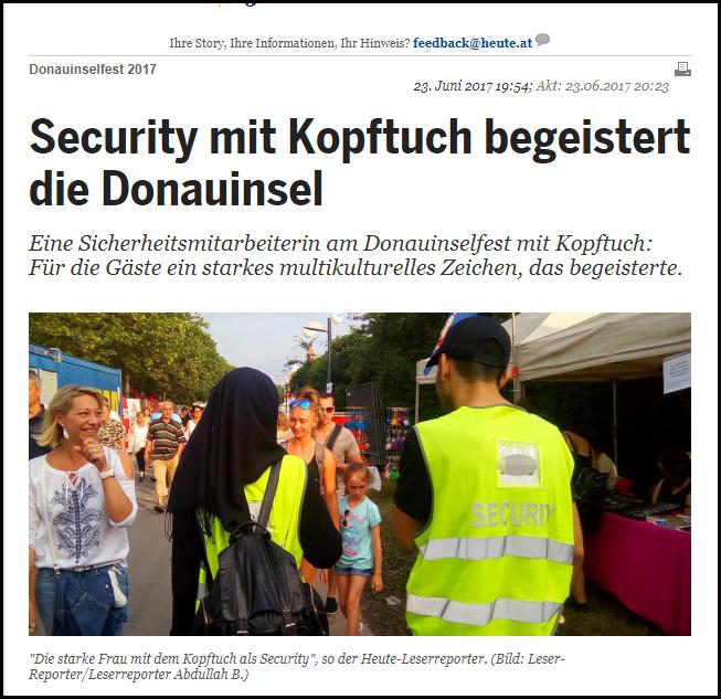 Abdullah begeistert Donauinsel